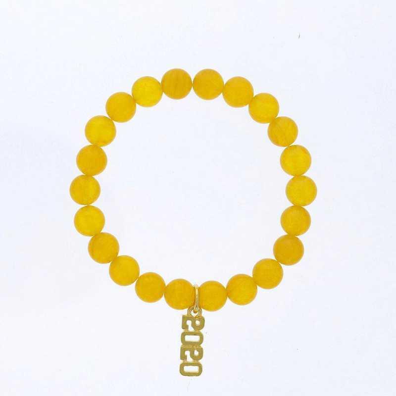 DBJ-BRC-2800DYQ: Gold tone Pewter Grad. year charm with yellow quartizite
