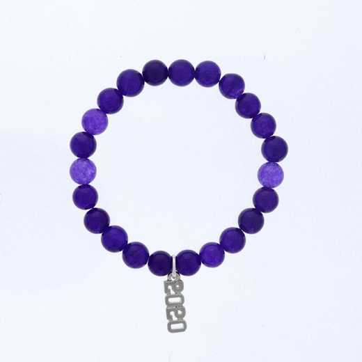 DBJ-BRC-2801PQ: Silver tone Pewter Grad. year charm with  purple quartzite