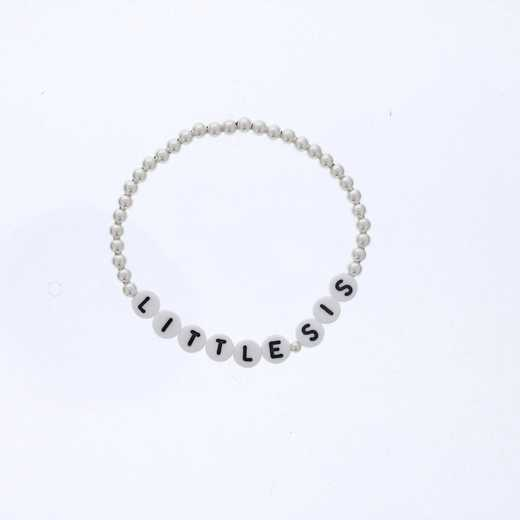 DBJ-BRC-2817SS: Sterling silver 4mm beads and acrylic message letters