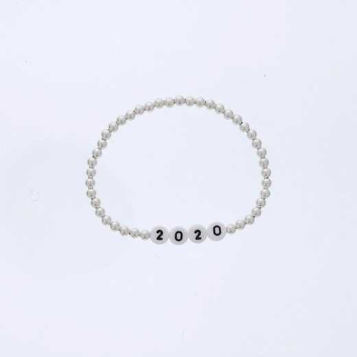 DBJ-BRC-2821SS: Sterling silver 4mm beads and acrylic message numbers