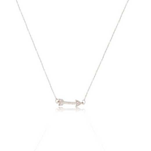 DBJ-NCK-312214KT: 14KT solid gold and diamond arrow necklace