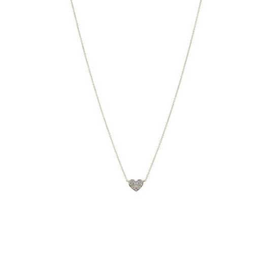 DBJ-NCK-321614KT: 14KT solid gold and diamond heart necklace