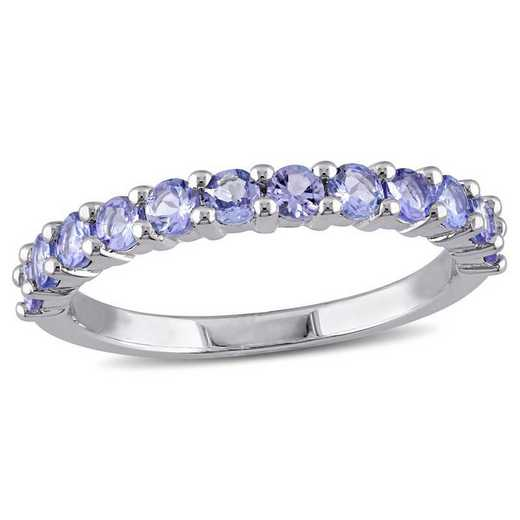 Tanzanite Stacking Ring in Sterling Silver