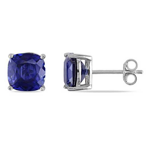 BAL001145: Created Blue Sapphire Stud Earrings in SS