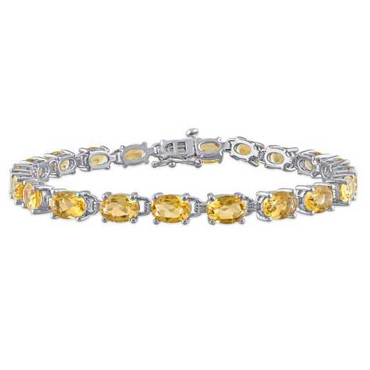 BAL001171: Oval-cut Citrine Bracelet in SS