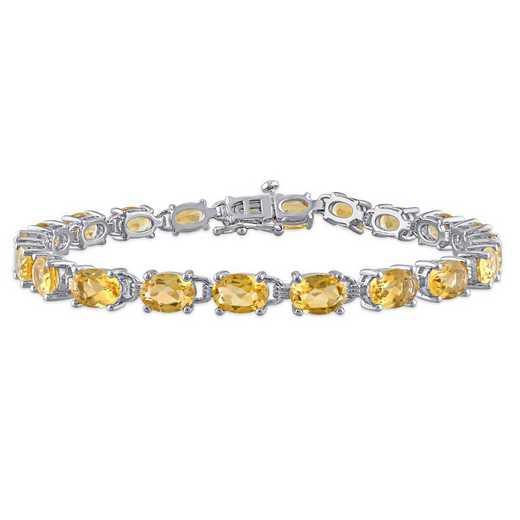 BAL001171: Oval-cut Citrine Bracelet in SS