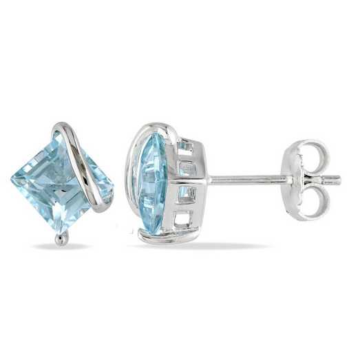 BAL001185: Blue Topaz Stud Earrings in SS