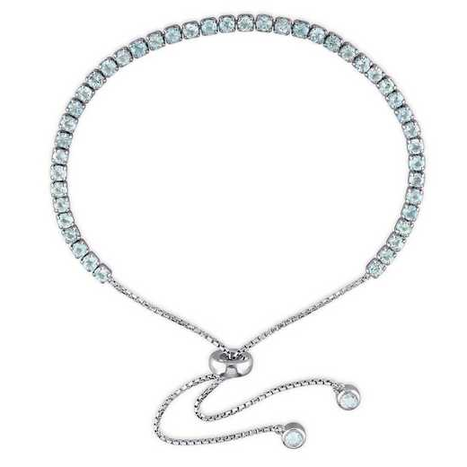 BAL001192: Blue Topaz Tassel Bolo Bracelet in SS