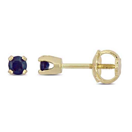 BAL000648: Sapphire Stud Earrings for Children in 14k YLW GLD