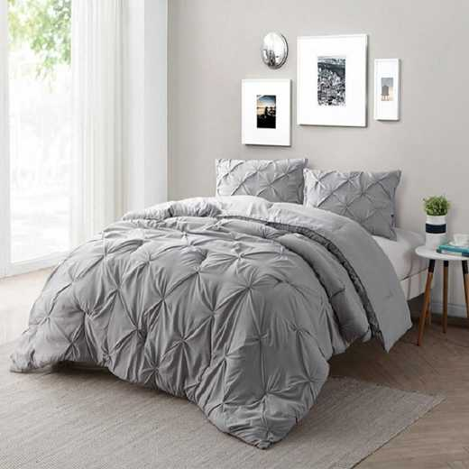 CRYS-MICRO-PIN-TXL-ALLOY: DormCo Alloy Pin Tuck Twin XL Dorm Comforter