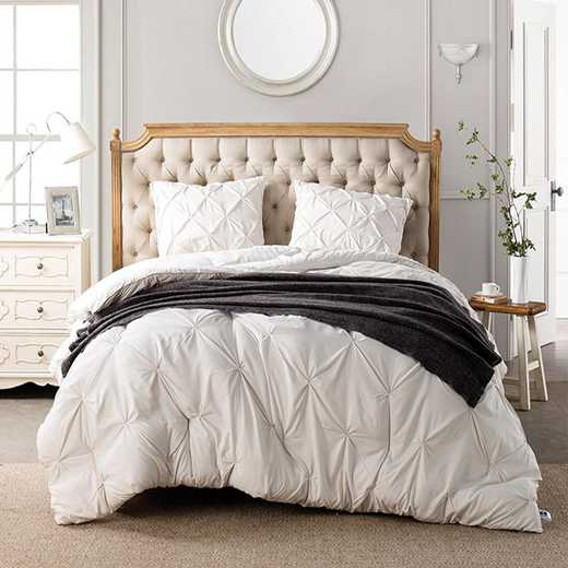 CRYS-MICRO-PIN-TXL-JET: DormCo Jet Stream Pin Tuck Twin XL Dorm Comforter