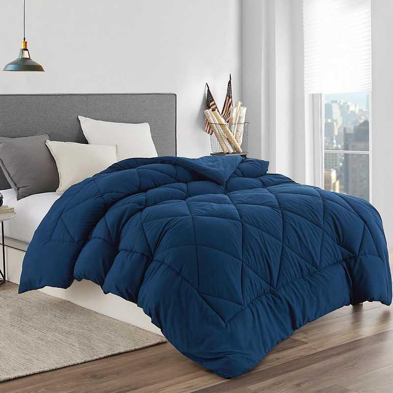 P2-3-2-NNAVY: Nightfall Navy Reversible Twin XL Comforter