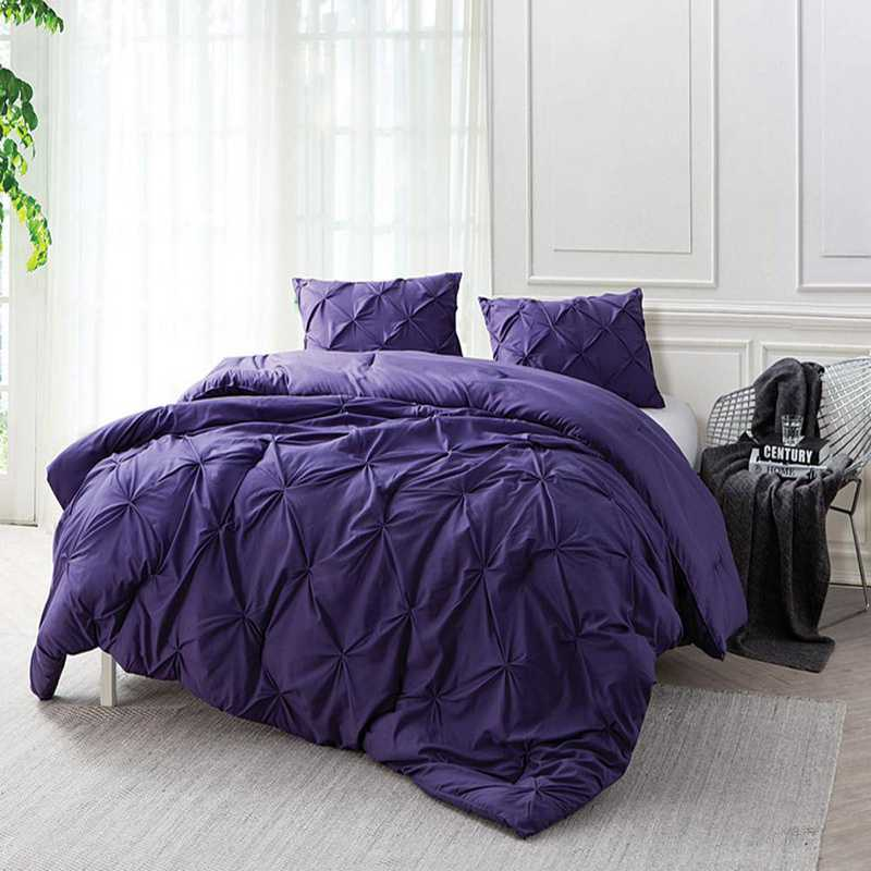 CRYS-MICRO-PIN-TXL-PURP-REG: DormCo Purple Reign Pin Tuck Twin XL Dorm Comforter