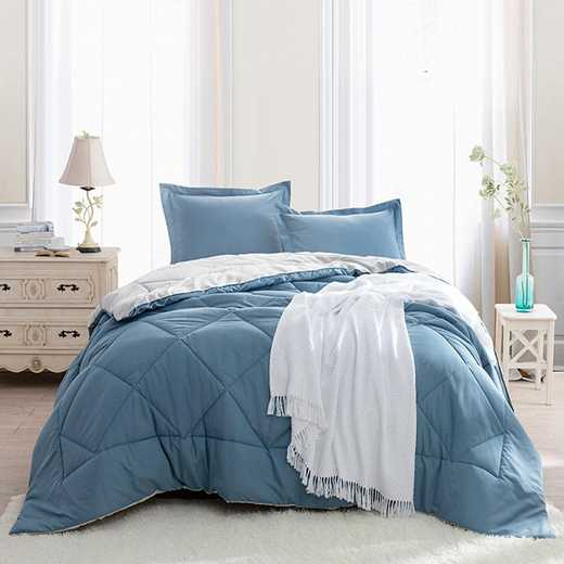 CRYS-MICRO-REV-TXL-SBSB: Smoke Blue/Silver Birch Reversible Twin XL Comforter