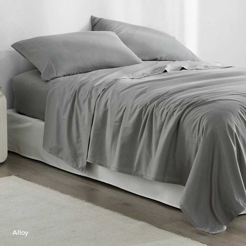 MICROFIB-TXL-SHEETS-ALY: Supersoft Twin XL Bedding Sheets - Alloy