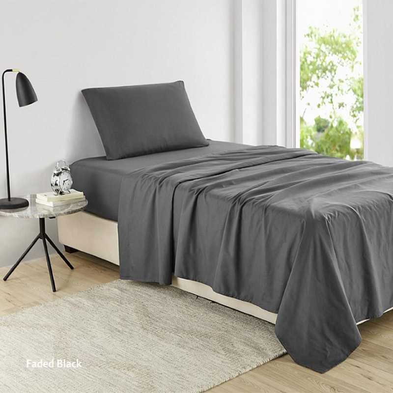 Supersoft Twin Xl Dorm Bedding Sheets Faded Black