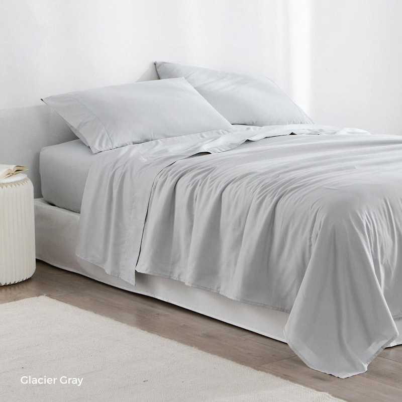 MICROFIB-TXL-SHEETS-GLG: Supersoft Twin XL Bedding Sheets - Glacier Gray
