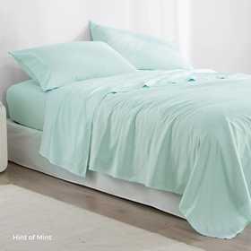 MICROFIB-TXL-SHEETS-HOM: Supersoft Twin XL Bedding Sheets - Hint of Mint