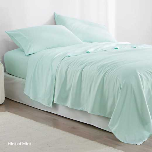 MICROFIB-TXL-SHEETS-HOM: Supersoft Twin XL Bedding Sheets - Hint of Mint