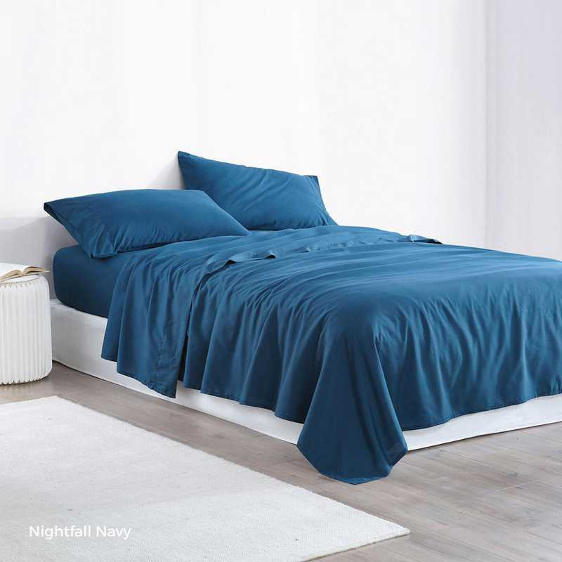 MICROFIB-TXL-SHEETS-NN: Supersoft Twin XL Bedding Sheets - Nightfall Navy