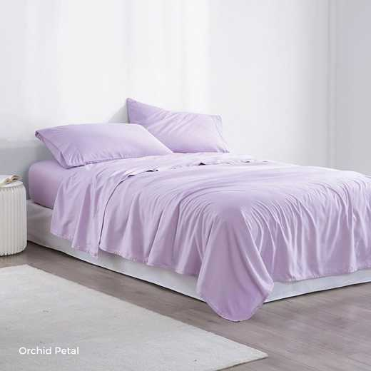 MICROFIB-TXL-SHEETS-OP: Supersoft Twin XL Bedding Sheets - Orchid Petal