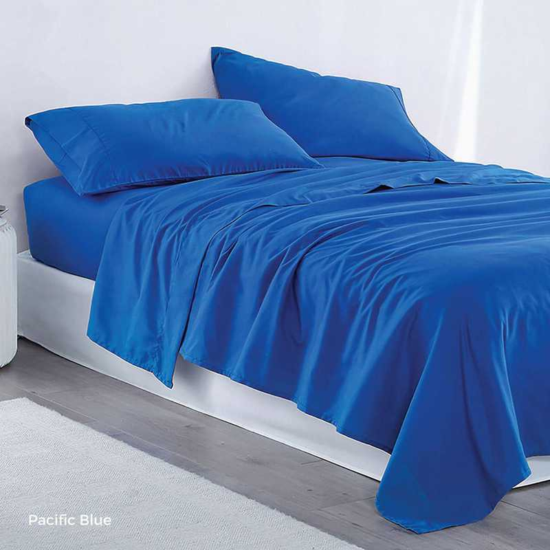 MICROFIB-TXL-SHEETS-PB: Supersoft Twin XL Bedding Sheets - Pacific Blue