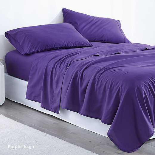 MICROFIB-TXL-SHEETS-PRE: Supersoft Twin XL Bedding Sheets - Purple Reign