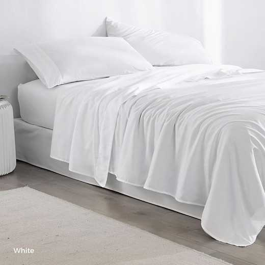 MICROFIB-TXL-SHEETS-WHT: Supersoft Twin XL Bedding Sheets - White