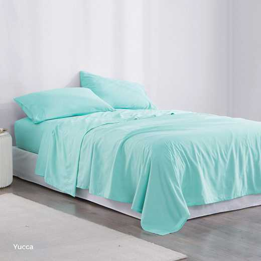 MICROFIB-TXL-SHEETS-YUCCA: Supersoft Twin XL Bedding Sheets - Yucca