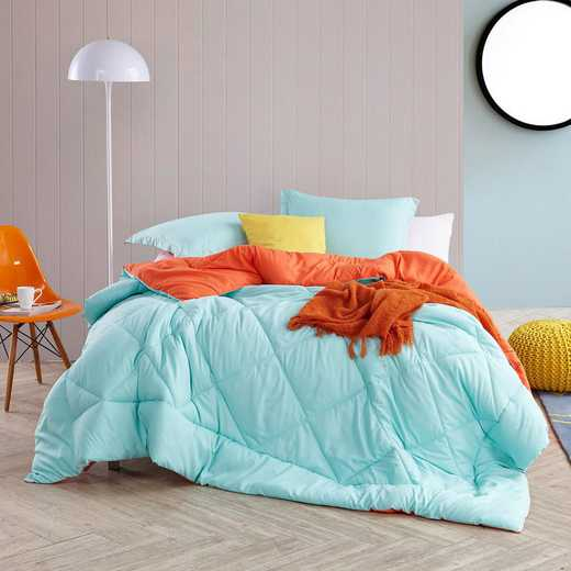 CRYS-MICRO-REV-TXL-YOUR: Yucca/Orange Reversible Twin XL Comforter
