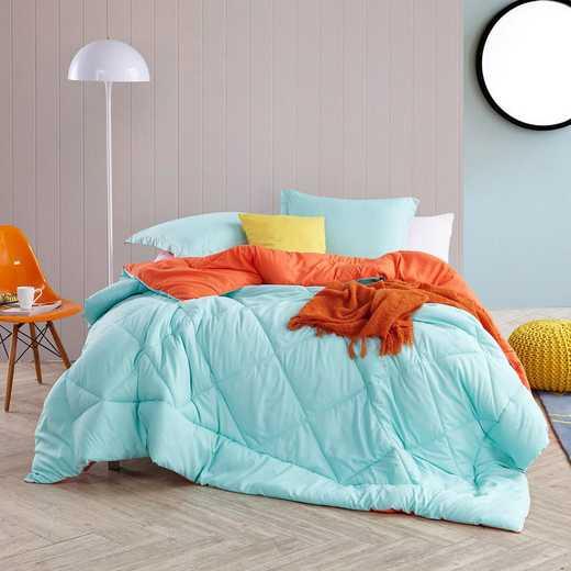 CRYS-MICRO-REV-TXL-YOUR: Yucca/Orange Reversible Twin XL Comforter