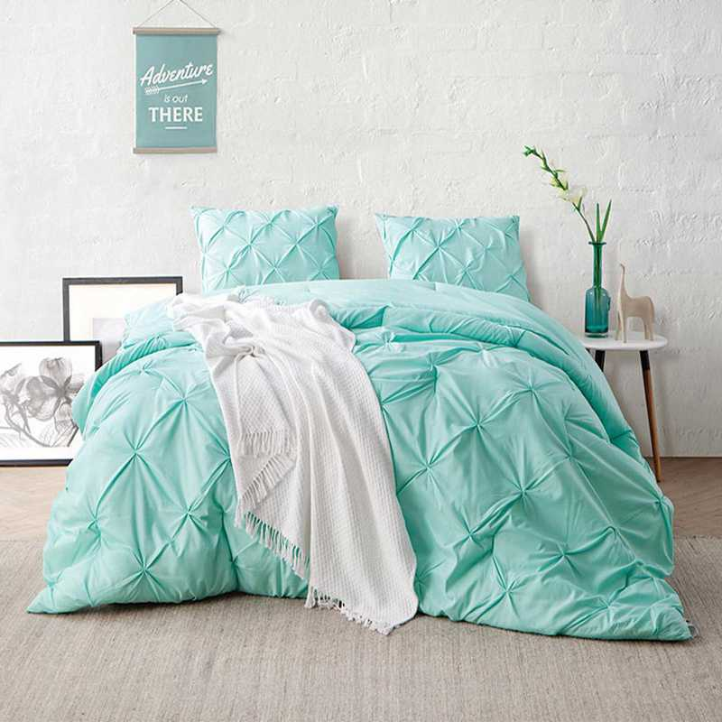 CRYS-MICRO-PIN-TXL-YUC: DormCo Yucca Pin Tuck Twin XL Dorm Comforter