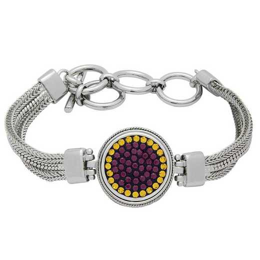 QQ-1SMB-AME-TOP: 1-Snap Metal Bracelet - AME/Topaz (Grape/Pumpkin)