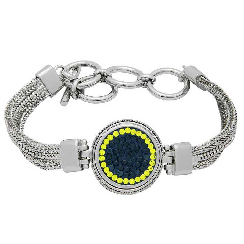 QQ-1SMB-MON-CIT: 1-Snap Metal Bracelet - MON/Citrine (London Blue/Citrine)