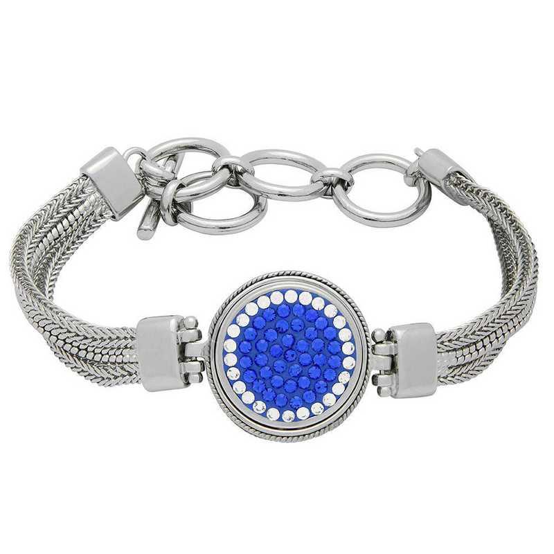 QQ-1SMB-SAP-CRY: 1-Snap Metal Bracelet - SAP/CRY (Periwinkle/CRY)