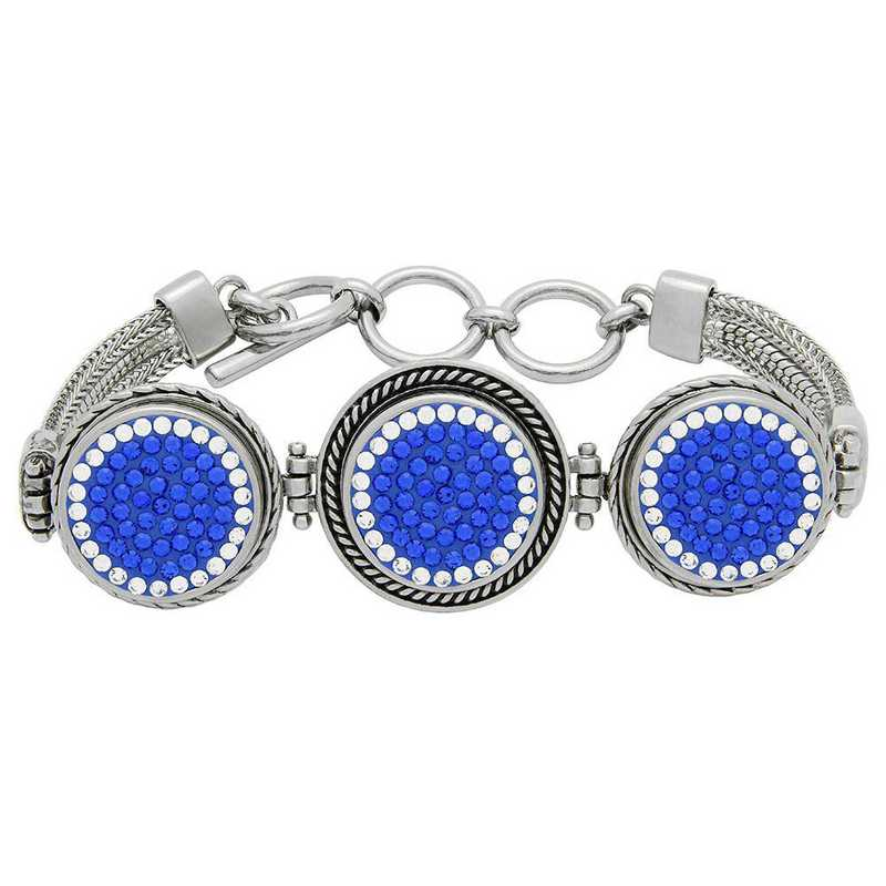 QQ-3SMB-SAP-CRY: 3-Snap Metal Bracelet - SAP/CRY (Periwinkle/CRY)