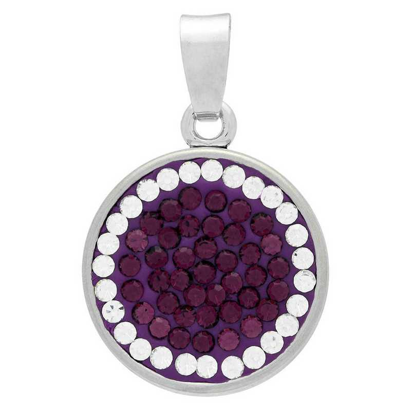 QQ-CSP-AME-CRY: Classic Snap Pendant - AME/CRY (Grape/CRY)