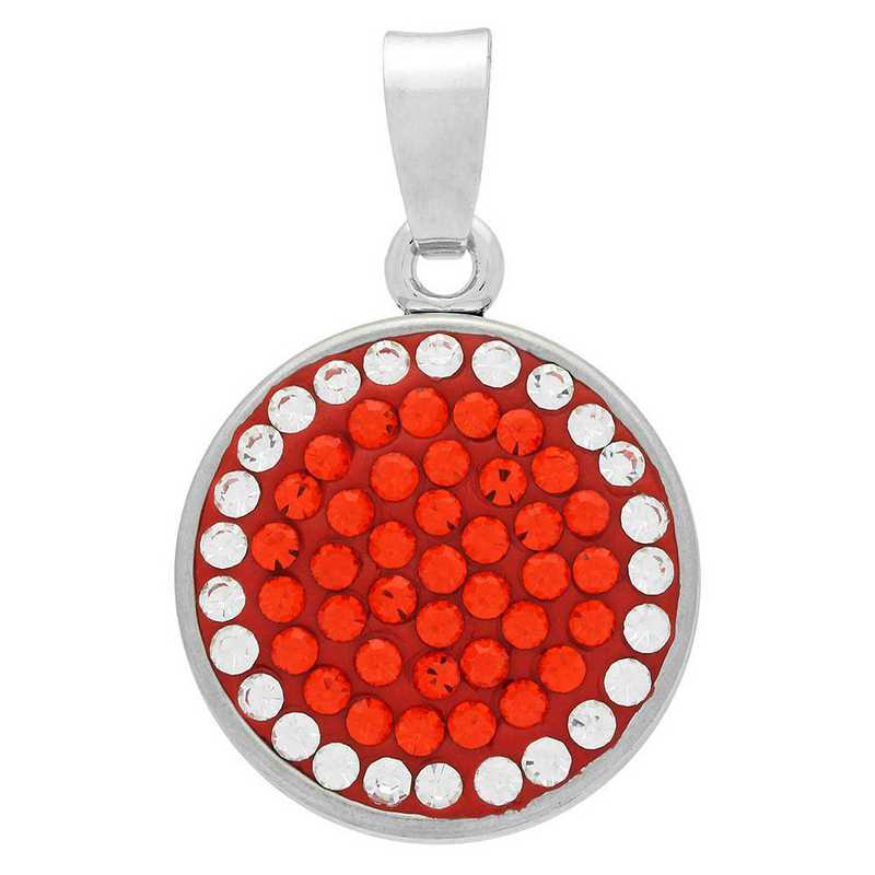 QQ-CSP-HYA-CRY: Classic Snap Pendant - HYA/CRY (Tangerine/CRY)