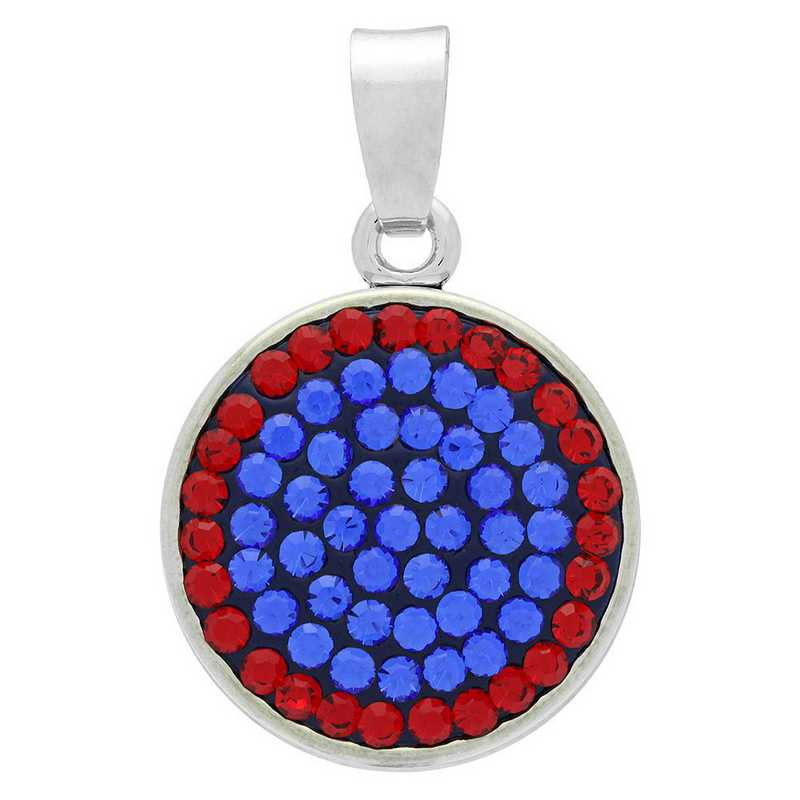 QQ-CSP-SAP-LTSIA: Classic Snap Pendant - SAP/LTSIA (Periwinkle/Red)
