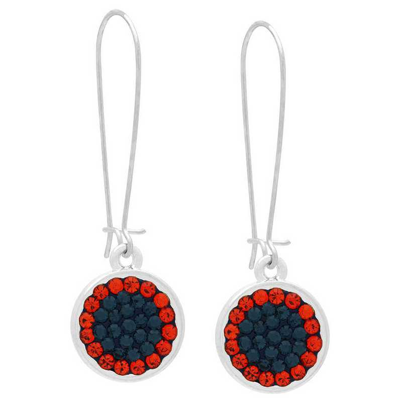 QQ-E-DANG-MON-HYA: Game Time Bling Circular Dangle Earrings - MON/HYA