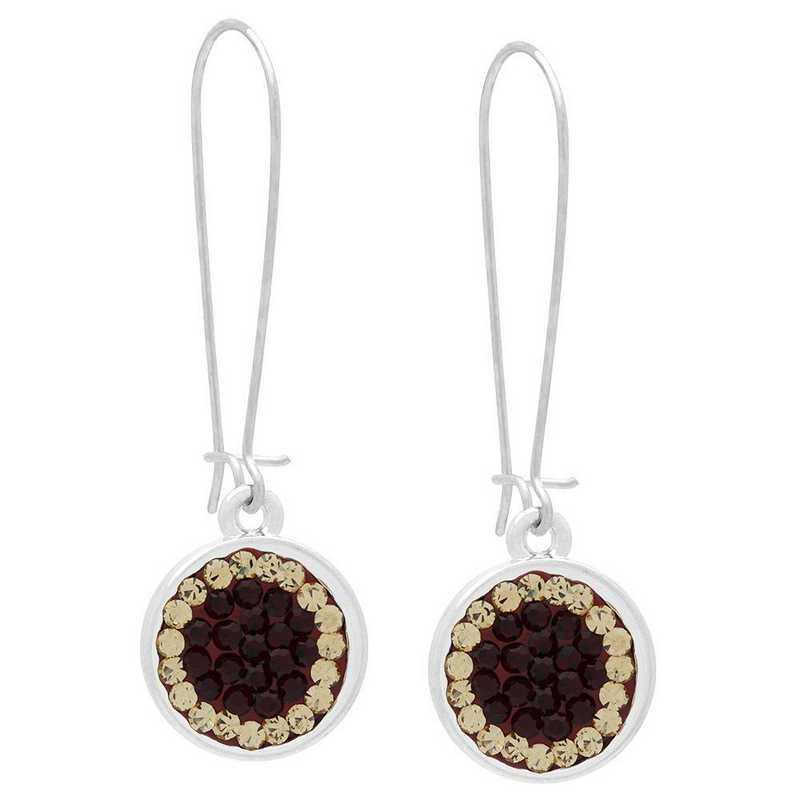 QQ-E-DANG-SIA-LCT: Circular Dangle Earrings - Siam/LCT