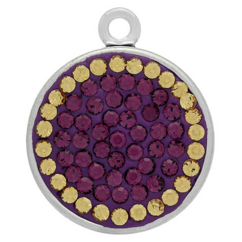QQ-E-S-AME-LCT: Snap Earrings - AME/LCT (Grape/Champagne)