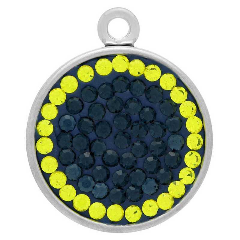 QQ-E-S-MON-CIT: Snap Earrings - MON/Citrine (London Blue/Citrine)