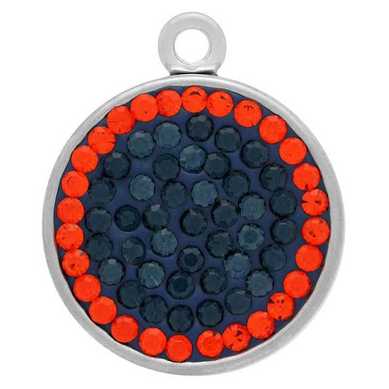 QQ-E-S-MON-HYA: Snap Earrings - MON/HYA (London Blue/Tangerine)
