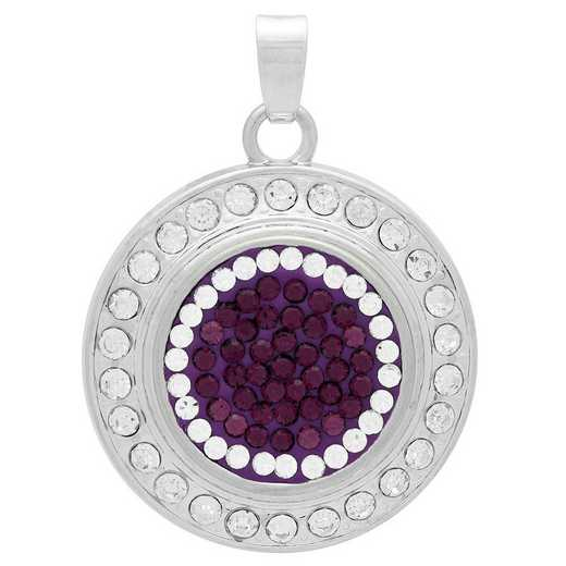 QQ-FSP-AME-CRY: Fancy Snap Pendant - AME/CRY (Grape/CRY)