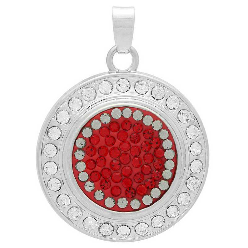 QQ-FSP-LTSIA-BLKDIA: Fancy Snap Pendant - LTSIA/Black DIA (Red/Platinum)