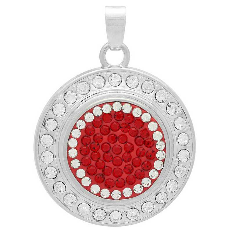 QQ-FSP-LTSIA-CRY: Fancy Snap Pendant - LTSIA/CRY (Red/CRY)