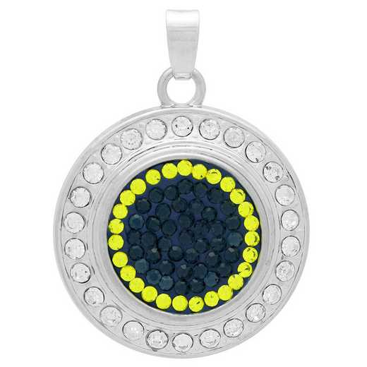QQ-FSP-MON-CIT: Fancy Snap Pendant - MON/Citrine (London Blue/Citrine)