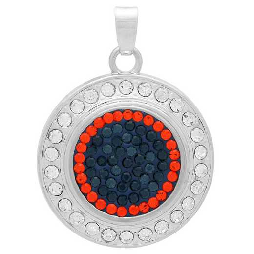 QQ-FSP-MON-HYA: Fancy Snap Pendant - MON/HYA (London Blue/Tangerine)