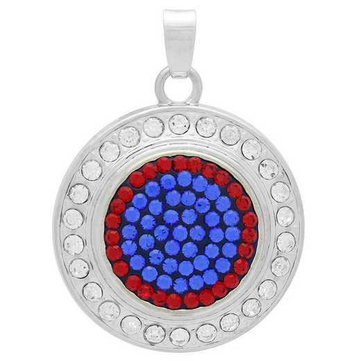 QQ-FSP-SAP-LTSIA: Fancy Snap Pendant - SAP/LTSIA (Periwinkle/Red)